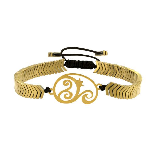 دستبند طلا 18 عیار زنانه اقلیمه کد DT467