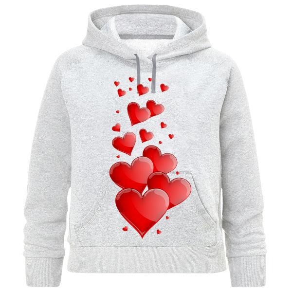 هودی دخترانه طرح قلب کد R05
