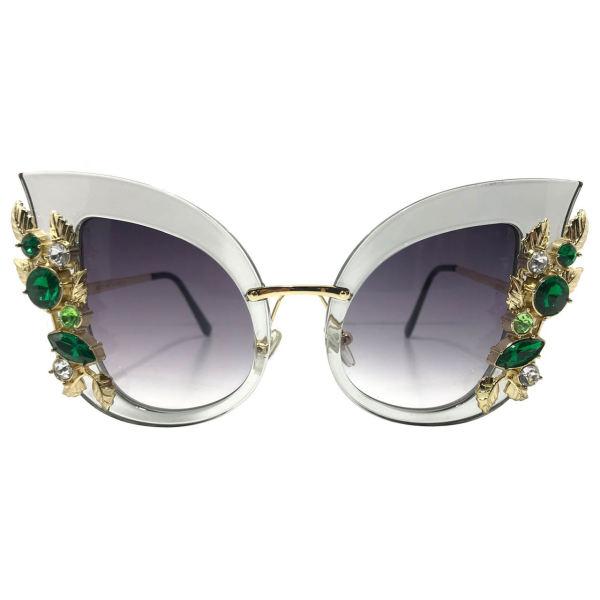 عینک آفتابی زنانه مدل JR6698 به همراه جا سوییچی چرم طبیعی طرح کفش هدیه