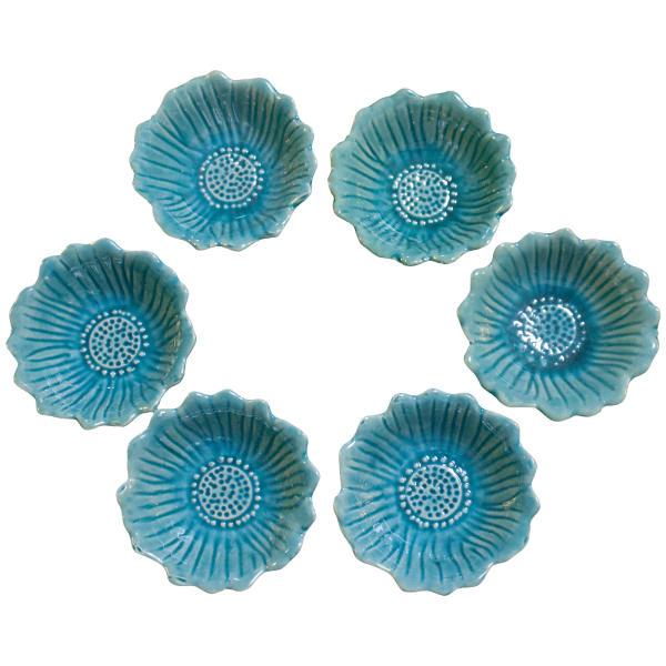 مجموعه ظروف هفت سین 6 پارچه طرح گل آفتابگردان مدل A199