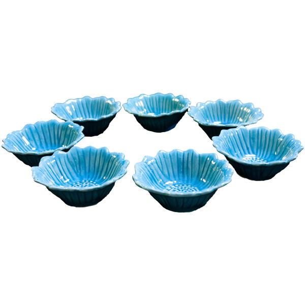 مجموعه ظروف هفت سین 7 پارچه طرح گل آفتابگردان مدل A299