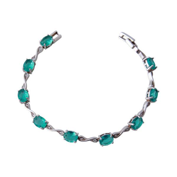 دستبند نقره زنانه بازرگانی میلادی کد DP_096