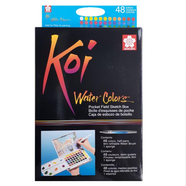 آبرنگ 48 رنگ ساکورا مدل Koi-48