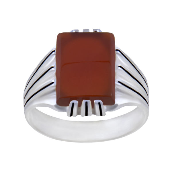 انگشتر نقره مردانه بازرگانی میلادی کد AM_081