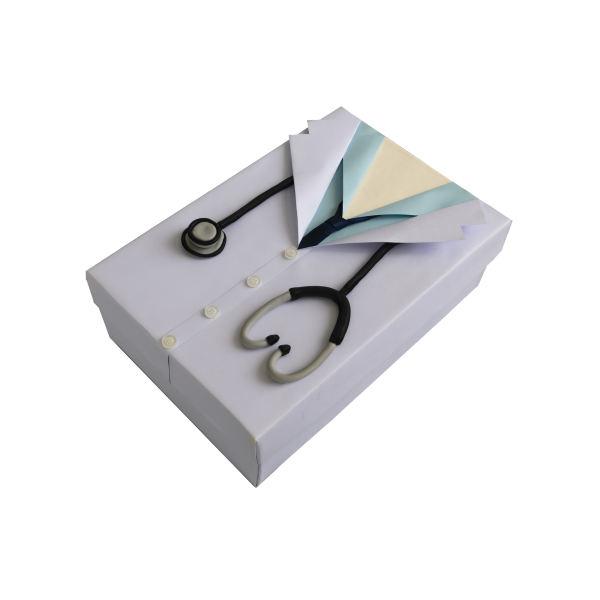 جعبه هدیه جعبه های رنگی رنگی توپک طرح پزشک کد-001