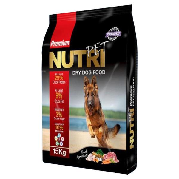 غذای خشک سگ نوتری پت مدل Premium 29 Percent PROBIOTICS وزن 15 کیلوگرم