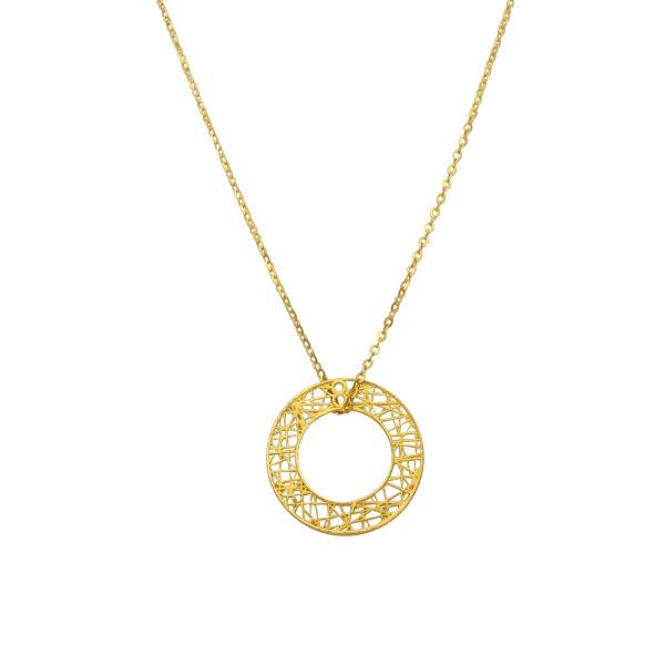 گردنبند طلا 18 عیار زنانه مانچو کد sfgs020