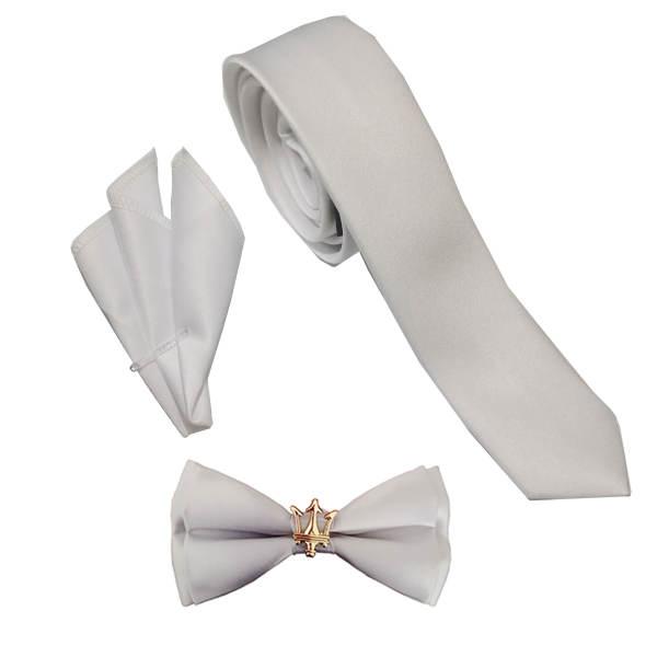 ست کراوات و پاپیون و دستمال جیب مردانه مدل mp 2 غیر اصل
