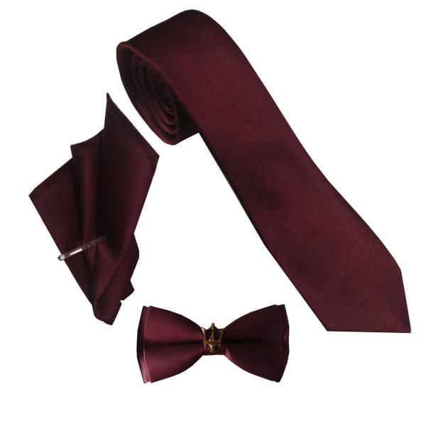 ست کراوات و پاپیون و دستمال جیب مردانه مدل mp 1 غیر اصل