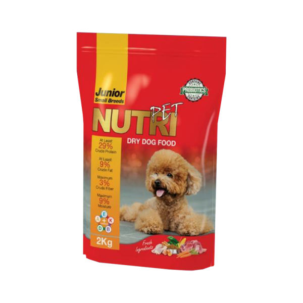 غذای خشک پروبیوتیک سگ نوتری پت مدل Junior Small Breeds وزن 2 کیلوگرم
