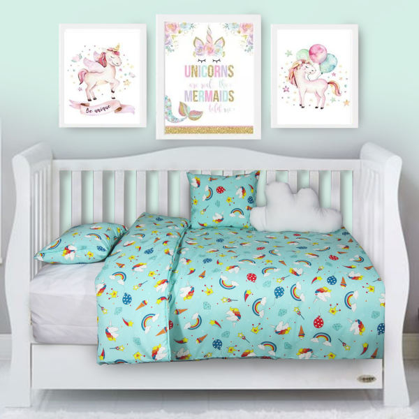 سرویس خواب 6 تکه کودک مدل Cute Unicorn