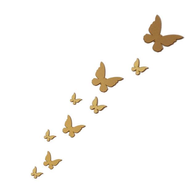 آینه مدل پروانه کد 1400 بسته 9 عددی