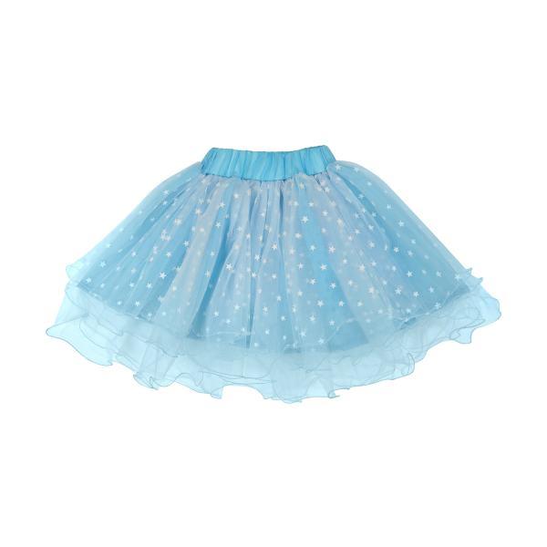 دامن دخترانه طرح ستاره کد 1129 رنگ آبی