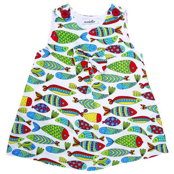 پیراهن دخترانه مدلا طرح ماهی کد D1984