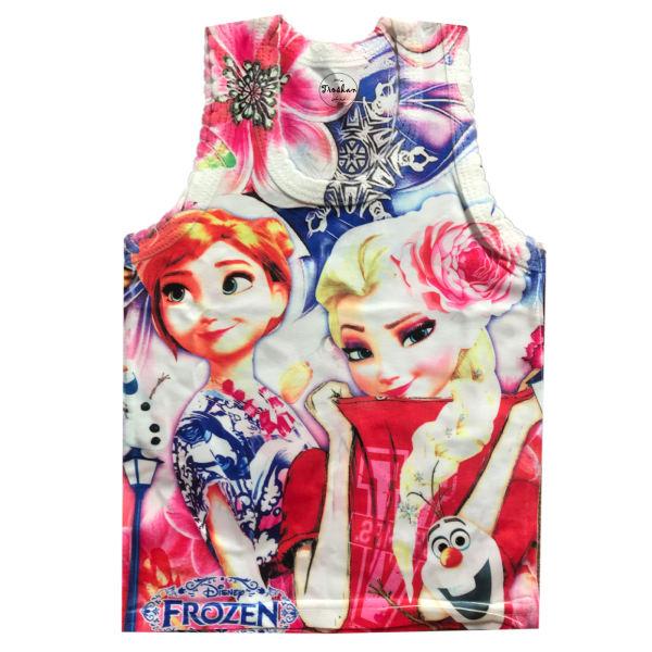 تاپ دخترانه تروسکان مدل Frozen1
