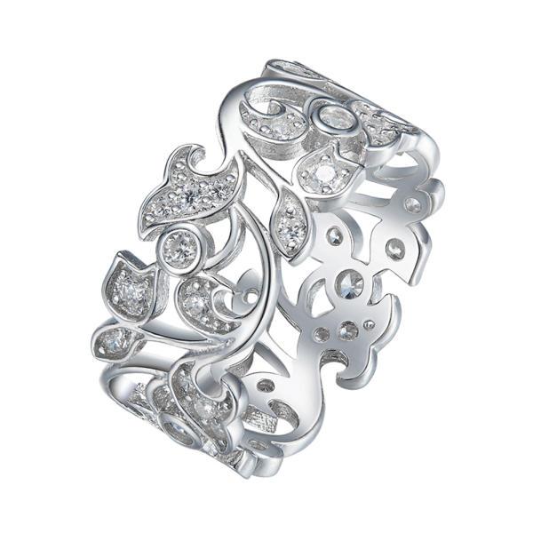 انگشتر نقره زنانه شهر جواهر مدل SJ-CR006