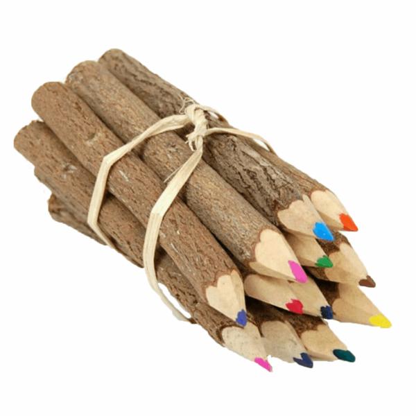 مداد رنگی 10 عددی مدل چوبی