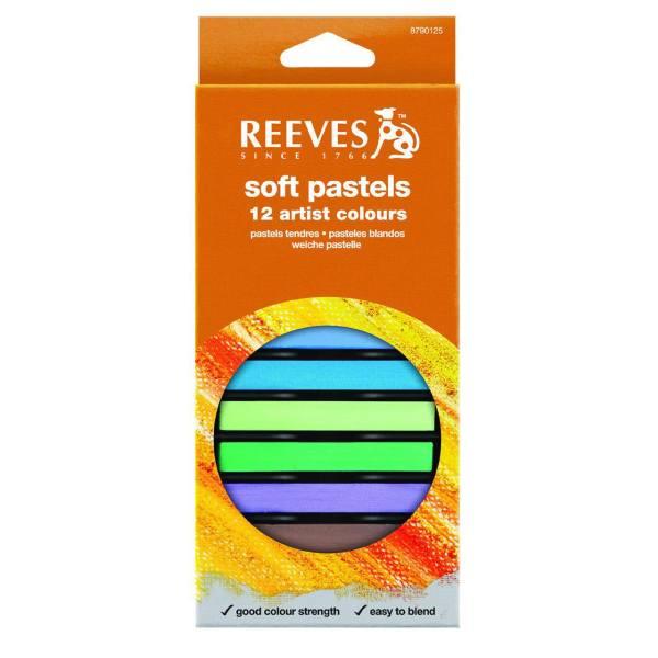 پاستل گچی 12 رنگ ریوز