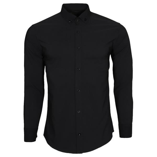 پیراهن آستین بلند مردانه مدل bn03 رنگ مشکی