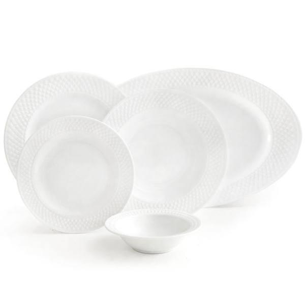 سرویس غذاخوری 28 پارچه چینی زرین ایران سری رادیانس مدل White 2 درجه عالی