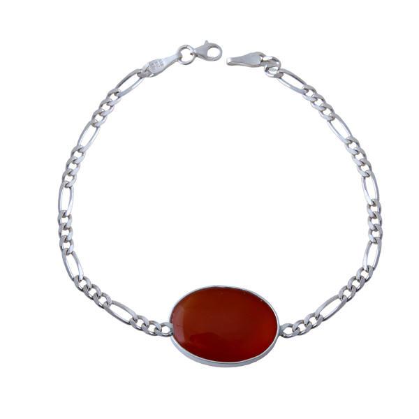دستبند نقره مردانه بازرگانی میلادی کد DP_183