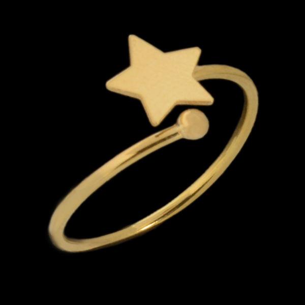 انگشتر طلا 18 عیار زنانه طلای مستجابی مدل 670144