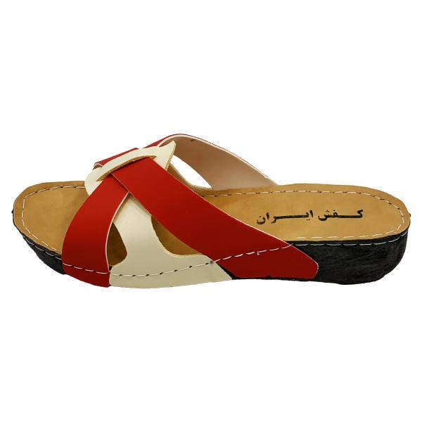 دمپایی زنانه کفش ایران مدل نیکتا پوش کد Si-Rd
