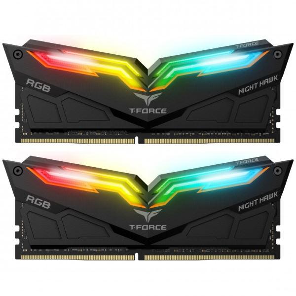 رم دسکتاپ DDR4 دو کاناله 3200 مگاهرتز CL16 تیم گروپ مدل T-Force Night Hawk RGB ظرفیت 32 گیگابایت