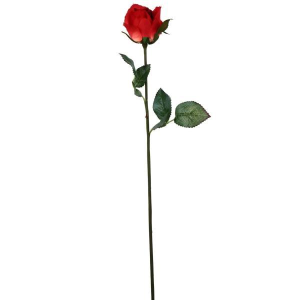 گل مصنوعی هومز طرح رز غنچه نیمه باز مدل41052 مجموعه 4 عددی