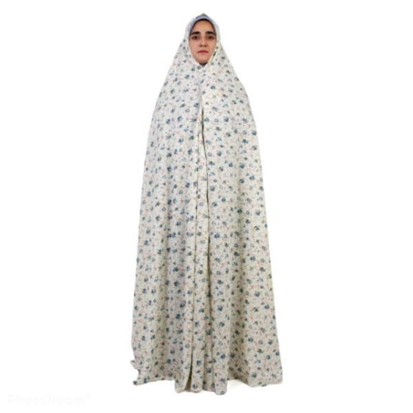 چادر نماز مدل سنتی طرح الهام رنگ آبی