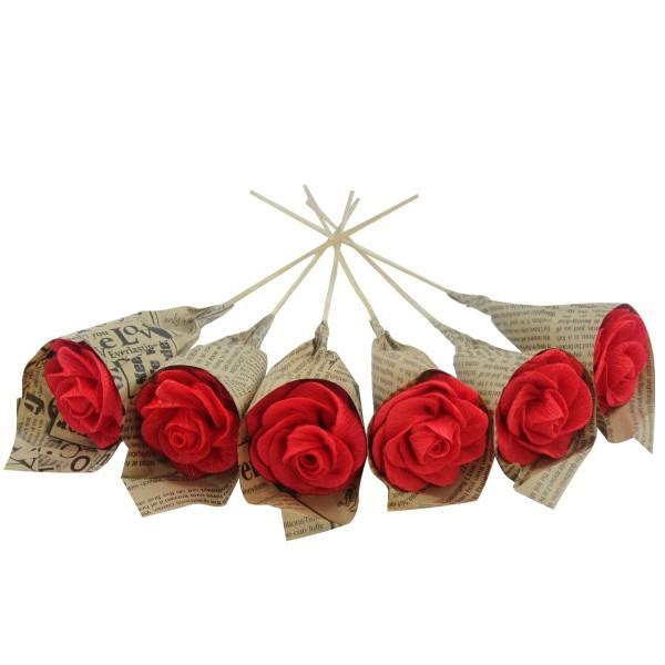 گل مصنوعی کوه شاپ مدل گل کاغذی هدی کد D139 - A029 مجموعه 6 عددی