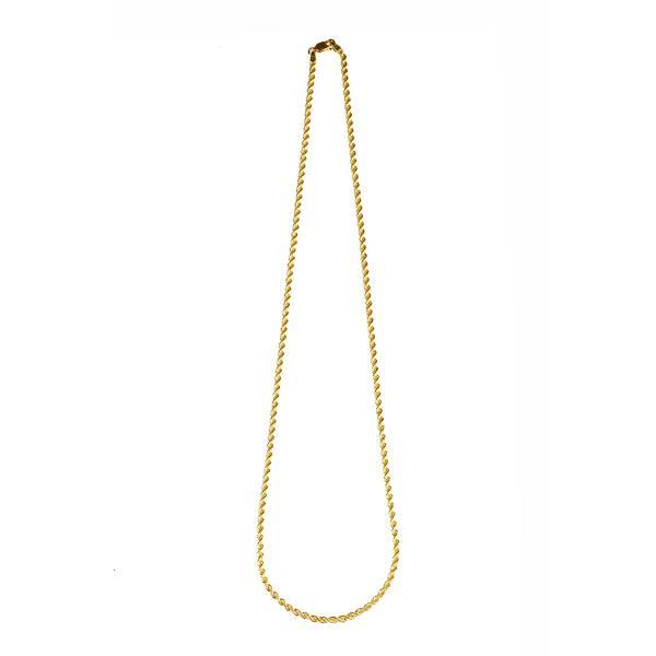 زنجیر طلا 18 عیار گالری طلاچی مدل مارپیچ