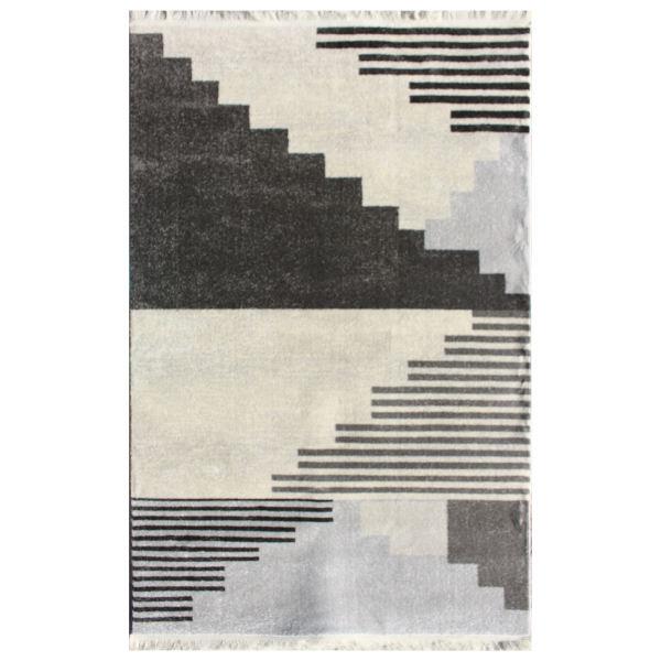 فرش ماشینی نیروانا مدل ویژن کد 2055 زمینه نقره ای