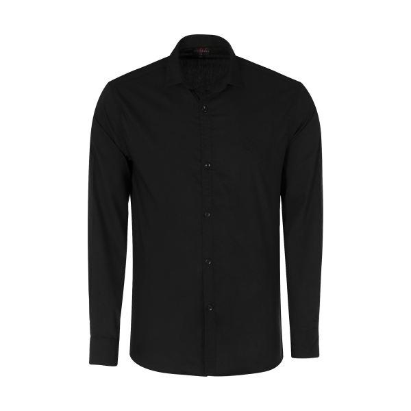 پیراهن مردانه مدل PVLF-B-M-9903 رنگ مشکی غیر اصل