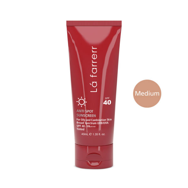 کرم ضد آفتاب و ضد لک رنگی لافارر مدل Oily And Acne-Prone Medium حجم 40 میلی لیتر
