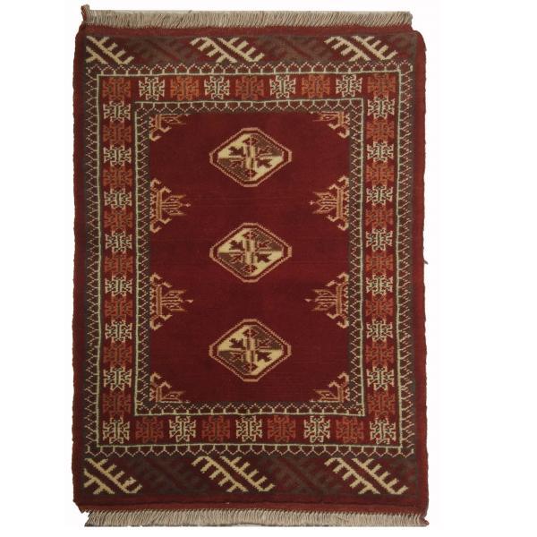 فرش دستبافت نرمین کسا طرح ترکمنی کد NKP.A 118