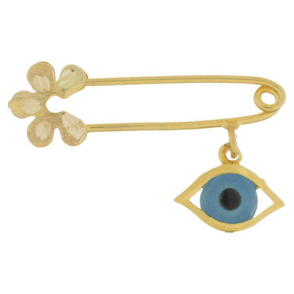 سنجاق سینه طلا 18 عیار مدل چشم و نظر کد 13.1 زرین