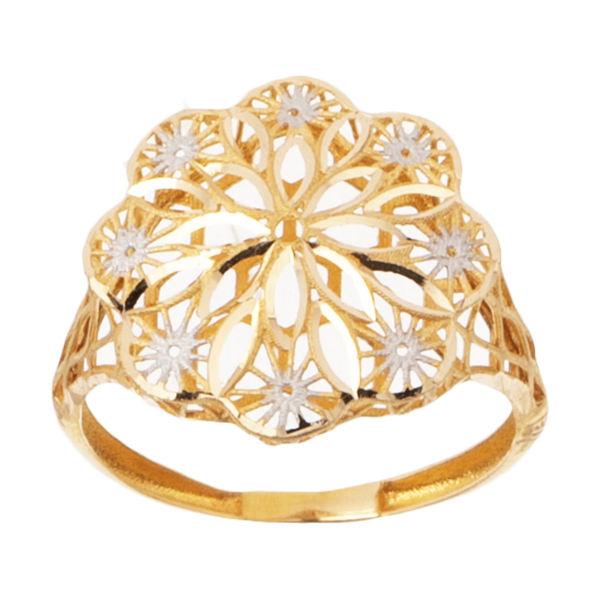 انگشتر طلا 18 عیار زنانه گالری یارطلا مدل فیوژن کد ANF15
