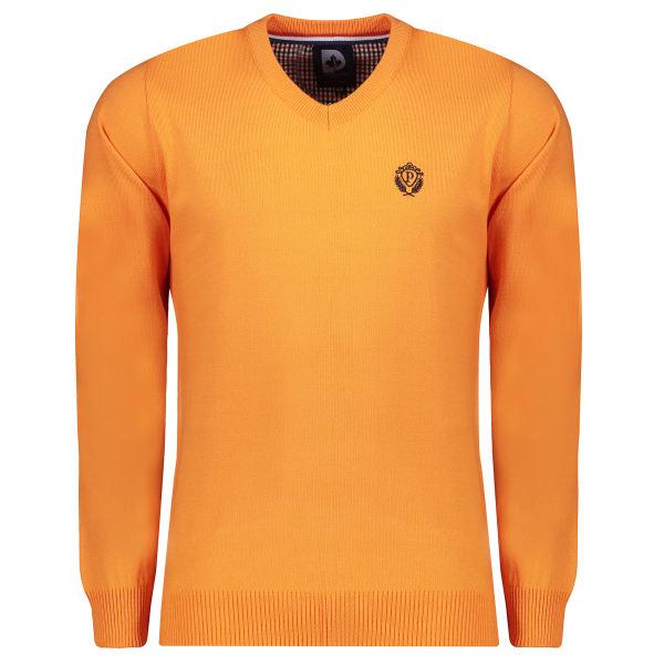 پلیور مردانه پاییزان مدل P700 رنگ پرتقالی