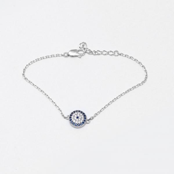 دستبند نقره زنانه مدل ۰۰۱