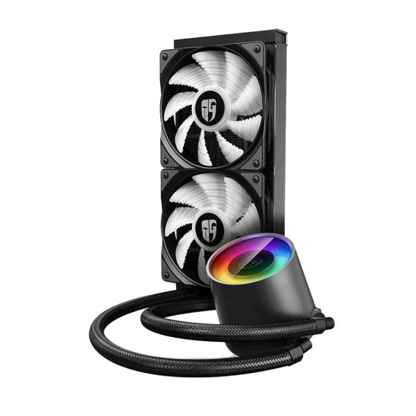 خنک کننده پردازنده دیپ کول مدل CASTLE 240 RGB V2