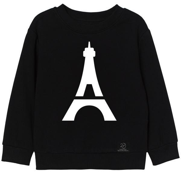 سویشرت دخترانه 27 مدل پاریس کد H07 رنگ مشکی