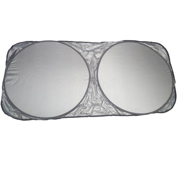 آفتابگیر شیشه جلو خودرو مدل عینکی به همراه کاور نگهدارنده