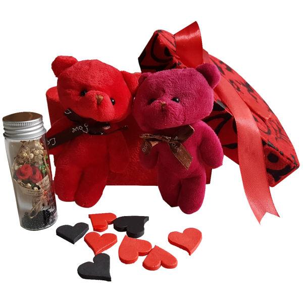 پک هديه و ست هدیه عروسک خرسی کارا مدل 05-LOVE