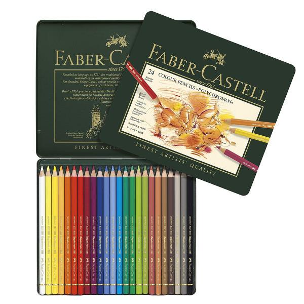 مداد رنگی 24 رنگ فابر-کاستل مدل پلی کروم