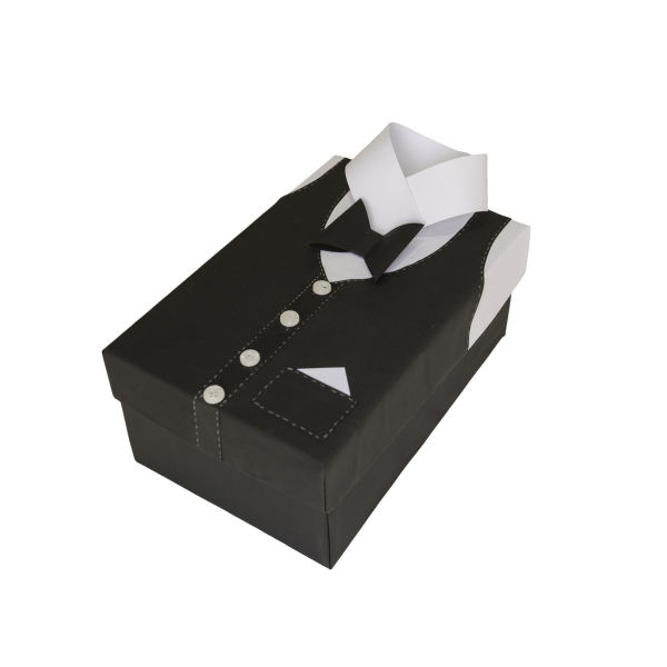جعبه هدیه طرح پیراهن مردانه سایز کوچک