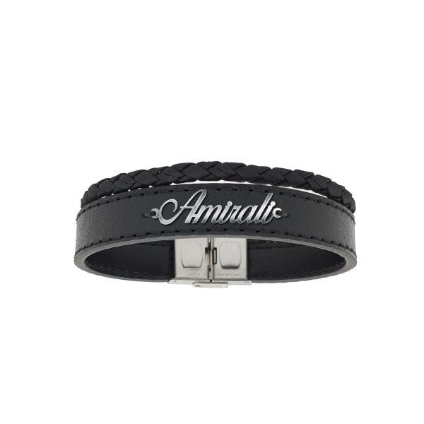 دستبند نقره طرح اسم امیرعلی کد AC 194