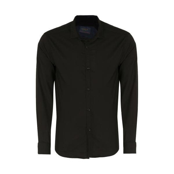 پیراهن آستین بلند مردانه کد PVLF BL-MIR-9906 رنگ مشکی غیر اصل
