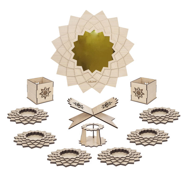 مجموعه ظروف هفت سین 10 پارچه لوکس طلائی مدل 01