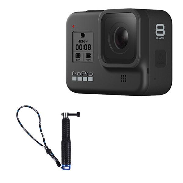 دوربین فیلم برداری ورزشی گوپرو مدل HERO8 Black به همراه مونوپاد